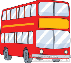 double decker red bus clipart